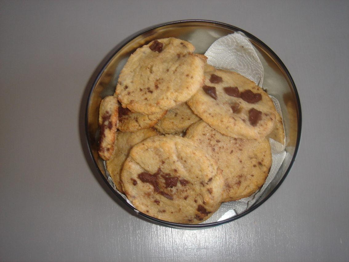 Recette de cookies aux pépites de chocolat bio